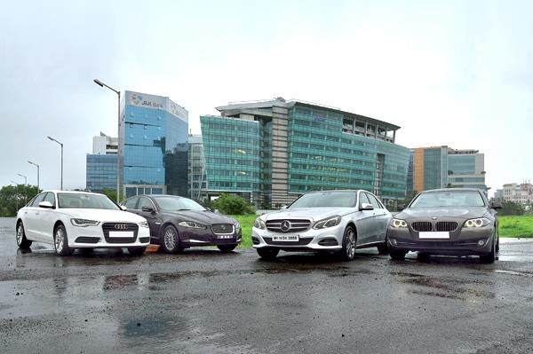 Mercedes Benz E 250 CDI vs Jaguar XF 2.2D vs Audi A6 2.0TDI vs BMW 520d