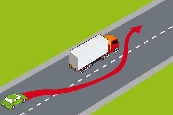 How to overtake a car safely?