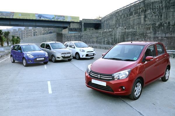 Maruti Celerio vs Nissan Micra Active vs Hyundai i10 vs Ford Figo