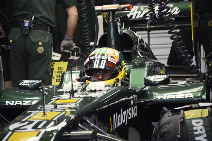 Third driver Karun Chandhok handled the testing duties for Team Lotus in FP1.