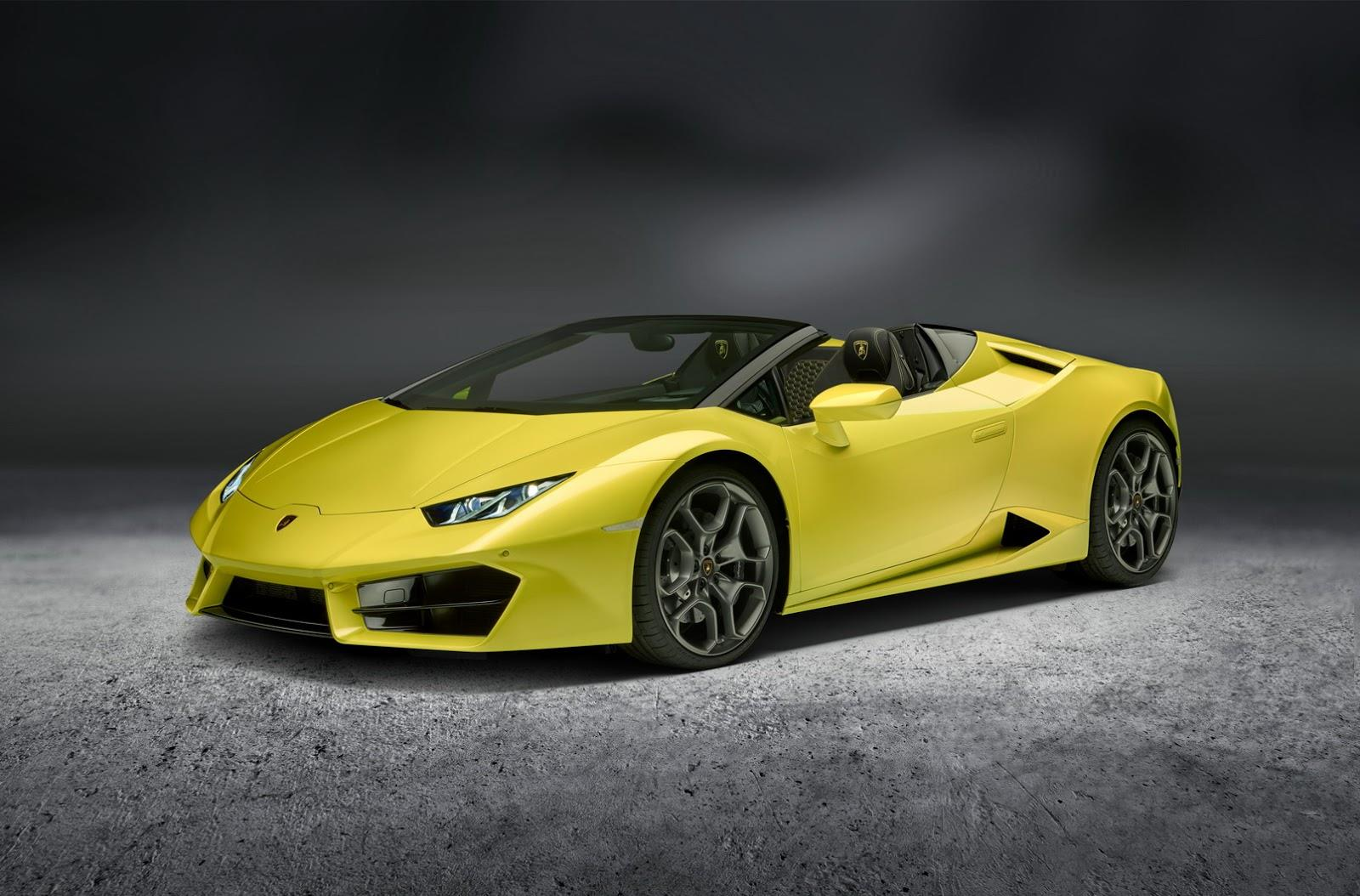 Lamborghini Huracan rear-wheel drive Spyder image gallery