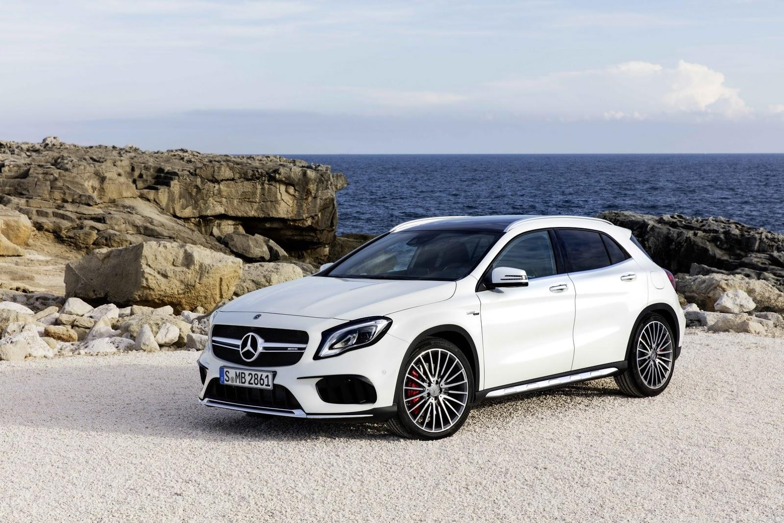 2017 Mercedes GLA facelift image gallery