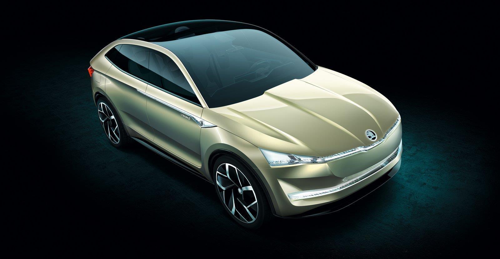 Skoda Vision E SUV concept image gallery