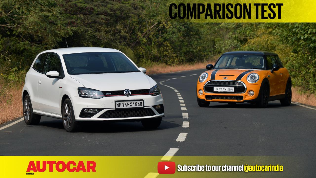 Mini Cooper S vs Volkswagen Polo GTI video comparison