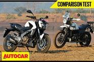 Bajaj Dominar 400 vs Royal Enfield Himalayan video comparison