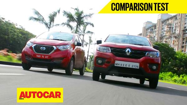 Renault Kwid vs Datsun Redigo video comparison
