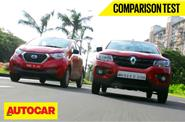 Renault Kwid vs Datsun Redigo video comparison