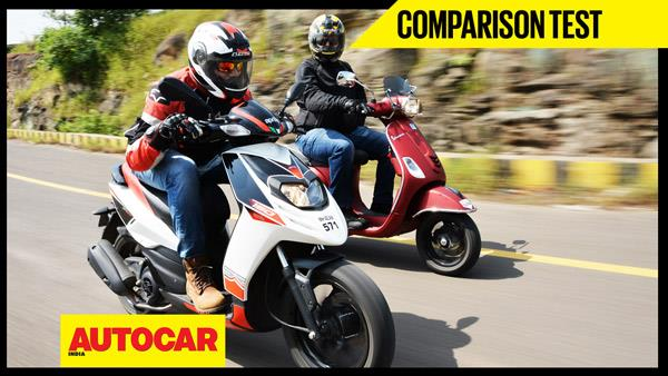 Aprilia SR 150 vs Vespa SXL 150 video comparison