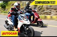 Aprilia SR 150 vs Vespa SXL 150 video comparison