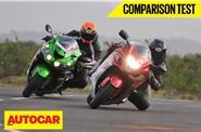 2016 Suzuki Hayabusa VS Kawasaki Ninja ZX-14R video comparison