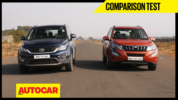 Tata Hexa vs Mahindra XUV500 video comparison