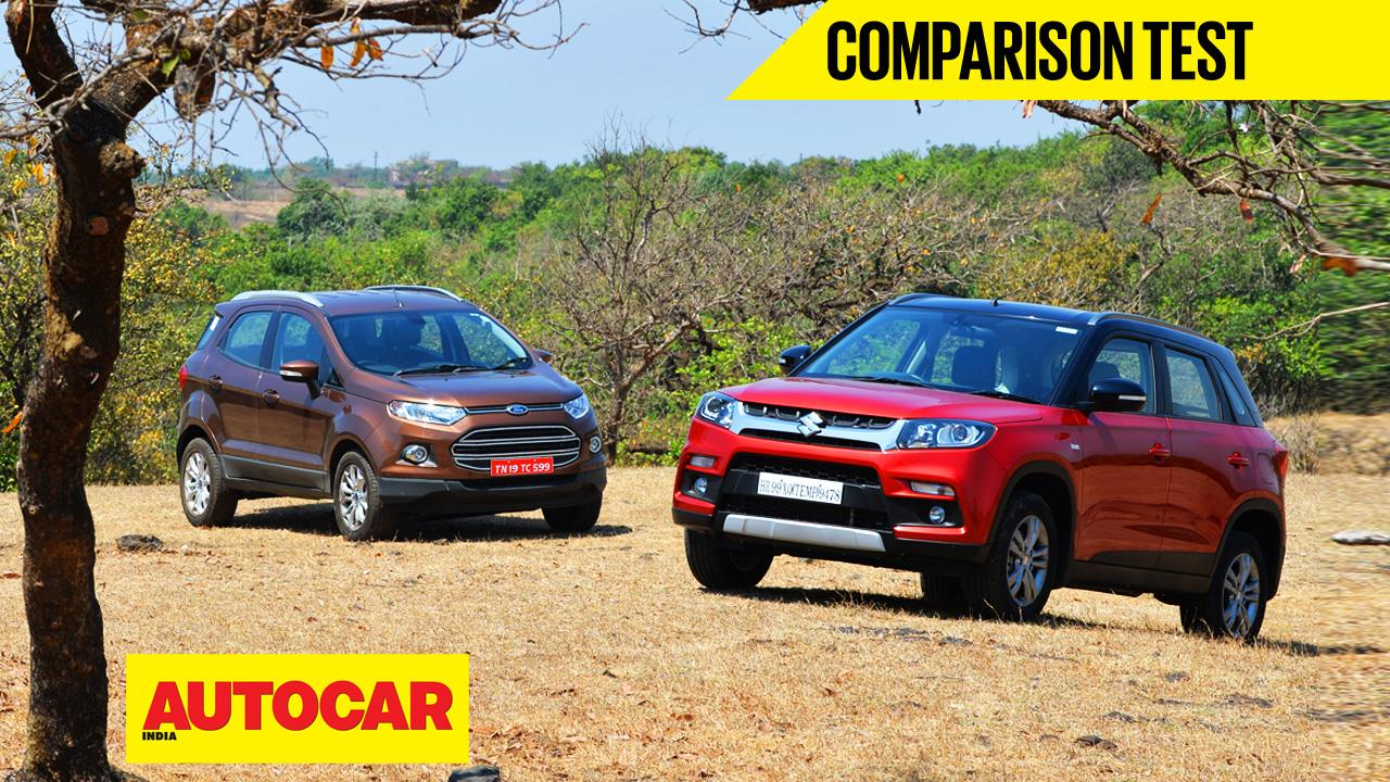 Maruti Vitara Brezza vs Ford EcoSport video comparison