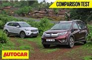 Honda BR-V CVT vs Hyundai Creta AT video comparison