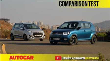 Hyundai Grand i10 facelift vs Maruti Ignis video comparison
