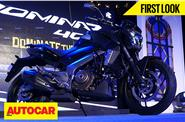 Bajaj Dominar 400 first look video