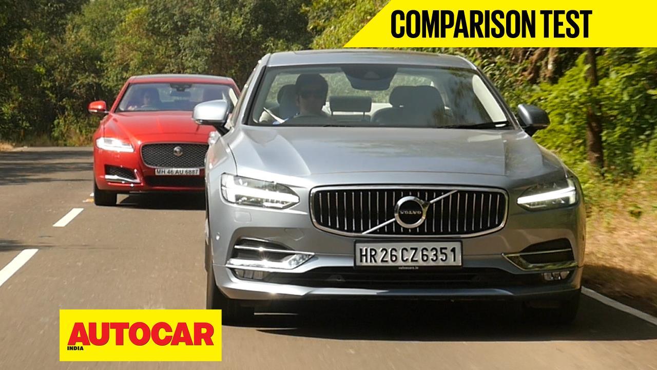 2016 Volvo S90 vs Jaguar XF comparison video