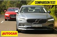 2016 Volvo S90 vs Jaguar XF comparison video