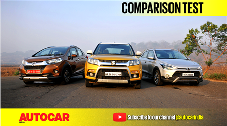 Honda WR-V vs Maruti Vitara Brezza vs Hyundai i20 Active video comparison