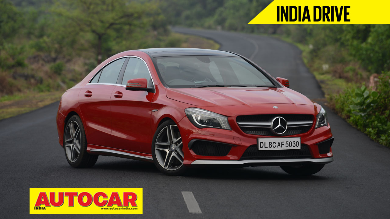 Mercedes cla 45 amg india video review autocar india for Mercedes benz prices in india