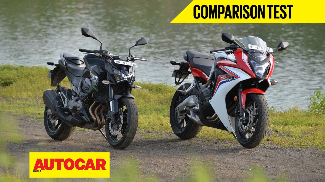 Honda Cbr 650f Vs Kawasaki Z800 Video Comparison Autocar India