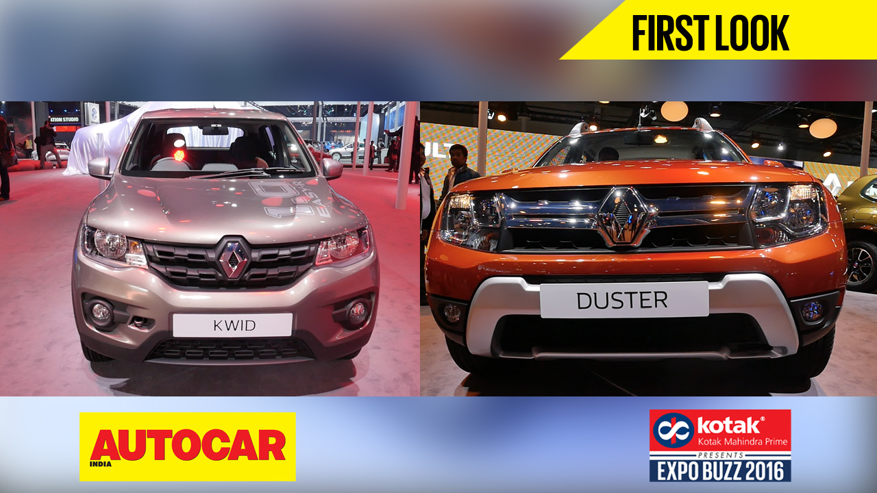 renault kwid 1 0 amt duster facelift first look video autocar india. Black Bedroom Furniture Sets. Home Design Ideas