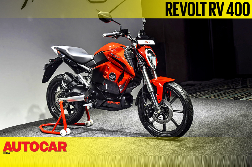 Revolt RV 400 2019 electric bike - first look and walk ...
