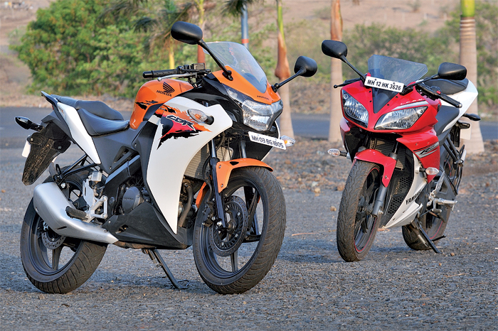 new cbr 150 vs yamaha r15
