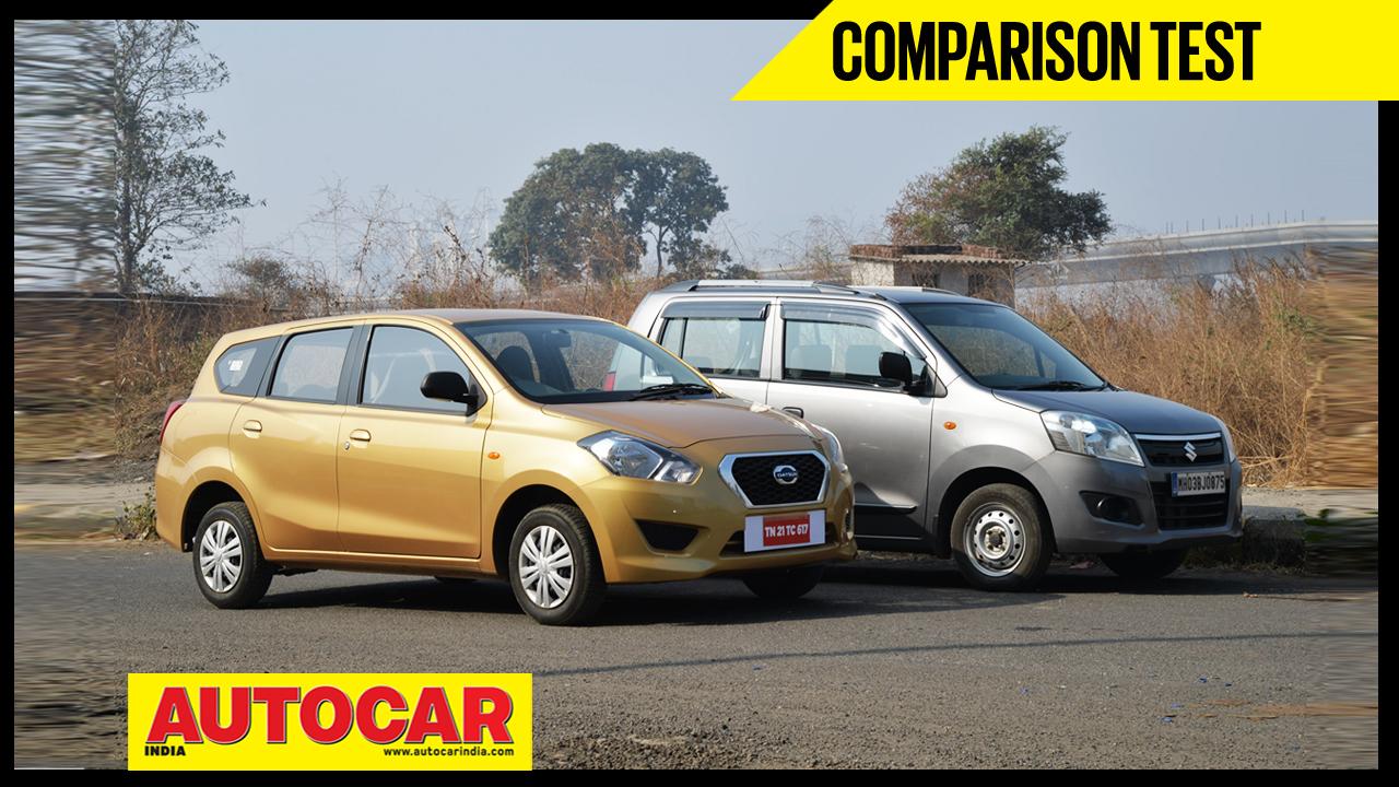 Datsun Go+ VS Maruti WagonR video comparison - Autocar India