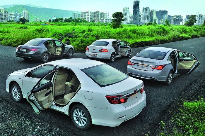 Toyota Camry Vs Hyundai Sonata Honda Accord Skoda Superb Autocar India