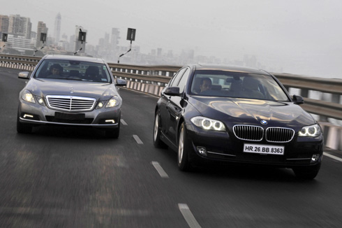 bmw 525d vs mercedes e250 cdi - feature - autocar india