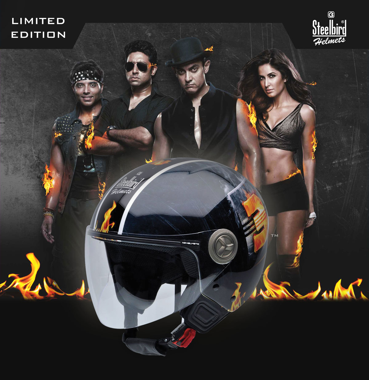 Steelbird Launches Dhoom 3 Helmets Autocar India