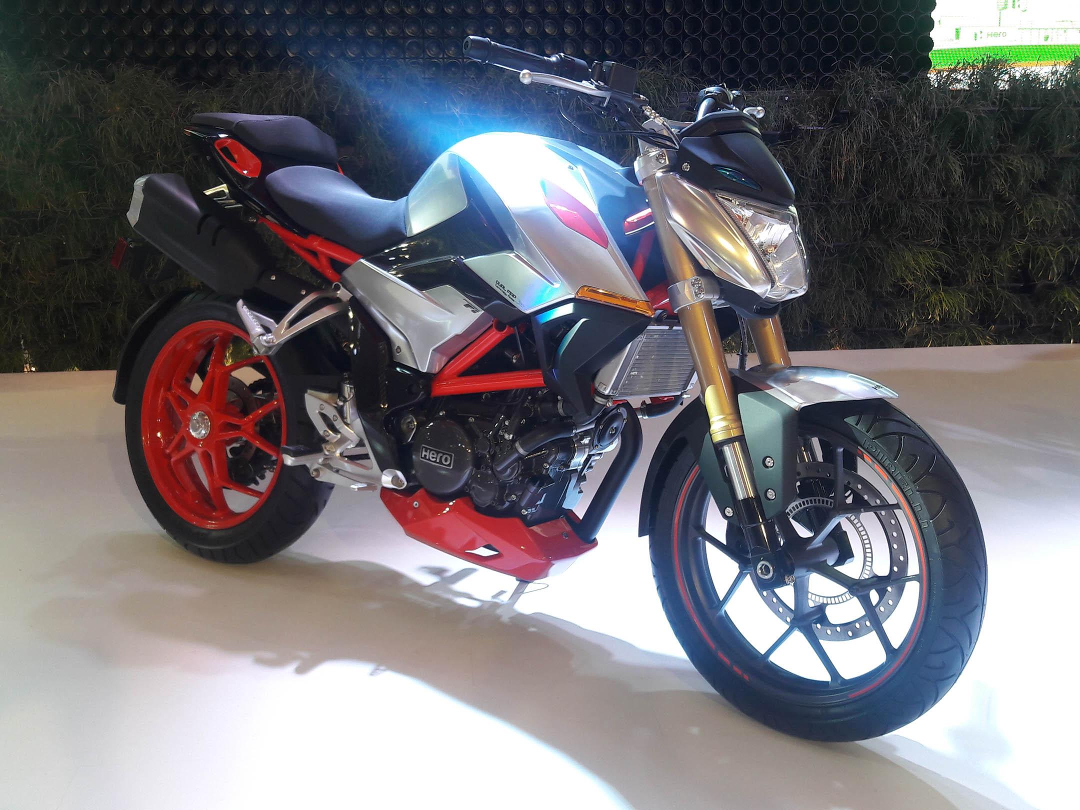 new 300cc hero motorcycle nearing production
