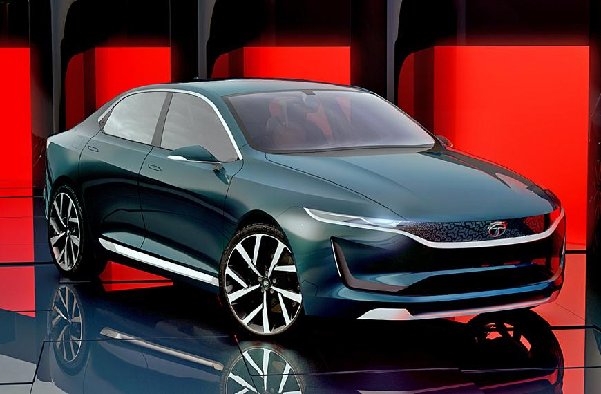 Tata EVision Sedan Concept Unveiled at Geneva Motor Show ...