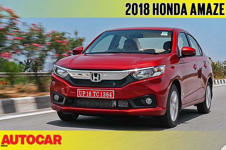 2018 Honda Amaze video review - Autocar India