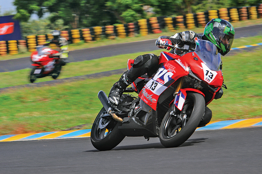 TVS Apache RR 310 Cup race bike review, track ride ...