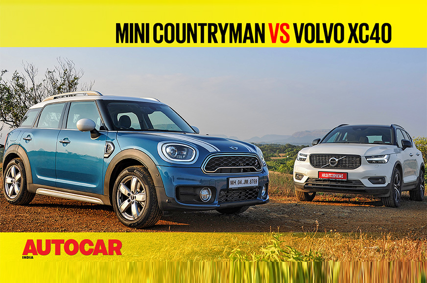 Review: Mini Countryman vs Volvo XC40 comparison video