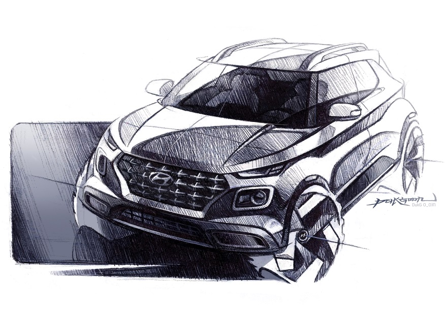 Hyundai Venue design sketches released