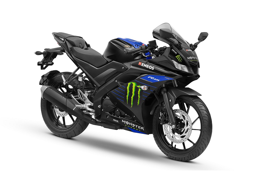 Yamaha YZF R15 V3.0, FZ25, Cygnus Ray launched in Monster Energy MotoGP colours