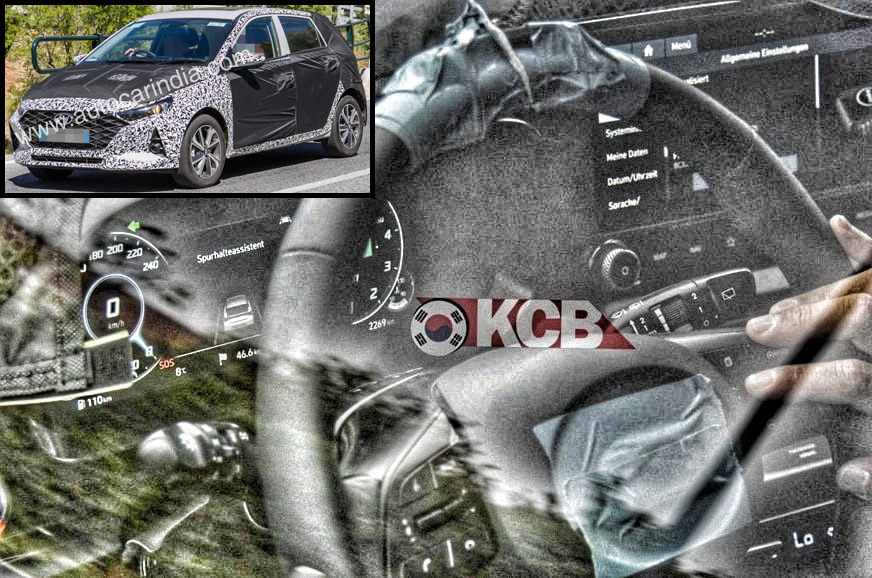 Next-gen Hyundai i20 interior spied with new digital instrument cluster