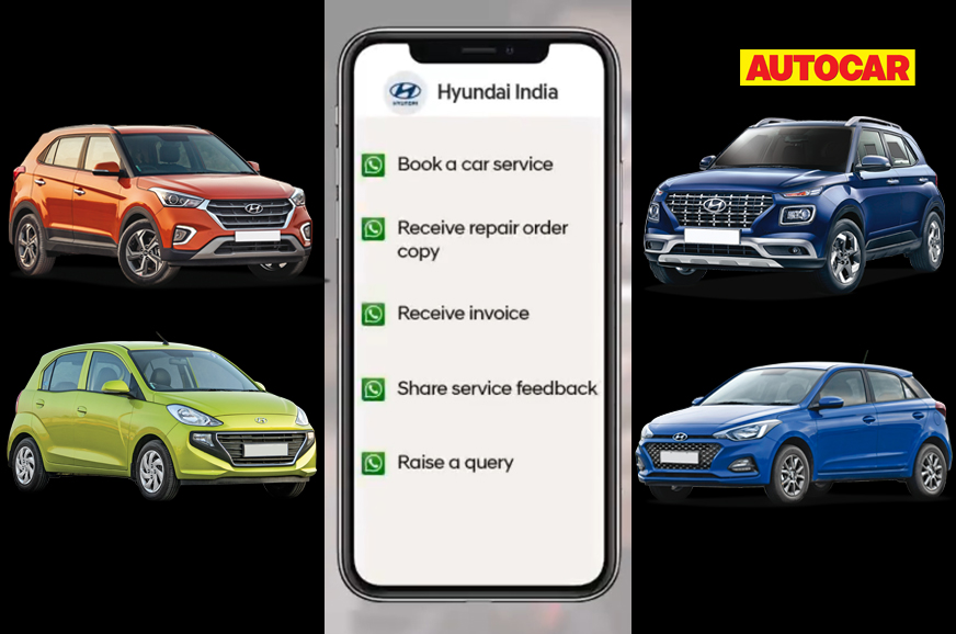Now, book your service appointment on Whatsapp: Hyundai India