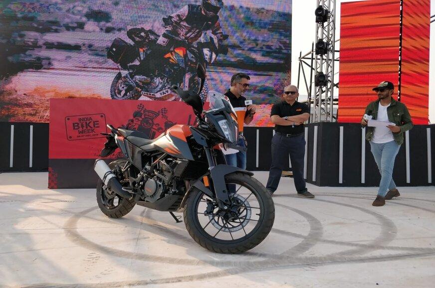 KTM 390 Adventure showcased at India Bike Week 2019