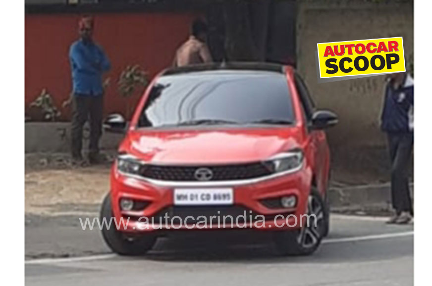 Tata Tiago facelift seen completely undisguised for the first time