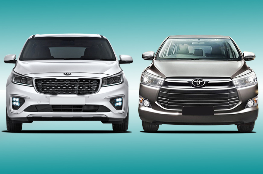 Kia Carnival vs Toyota Innova Crysta: Specifications comparison