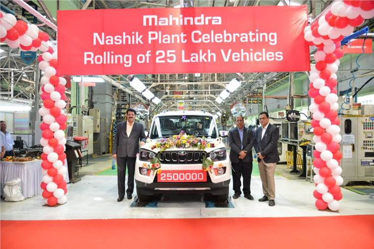 Mahindra rolls out 25th lakh vehicle from Nashik plant