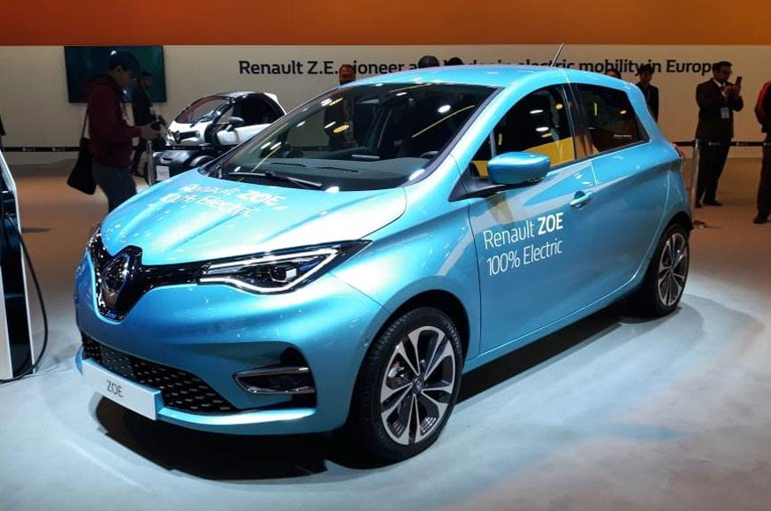 India-bound Renault Zoe EV on display at Auto Expo 2020