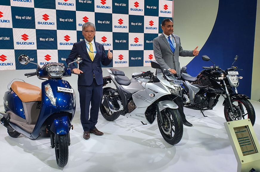 BS6 Suzuki motorcycle line-up revealed at Auto Expo 2020