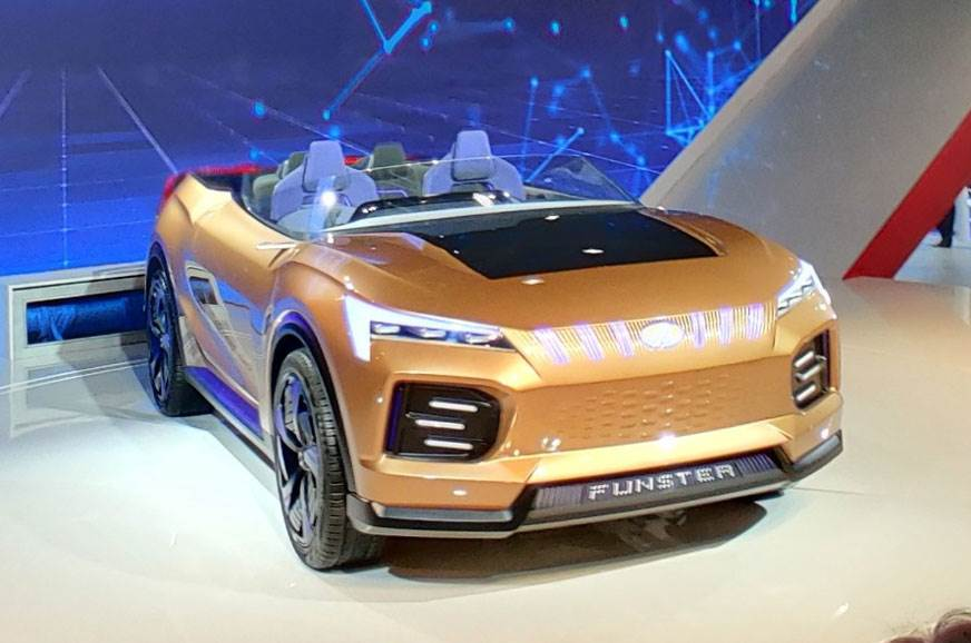 Funster convertible electric SUV concept leads Mahindra's EV charge at Auto Expo 2020