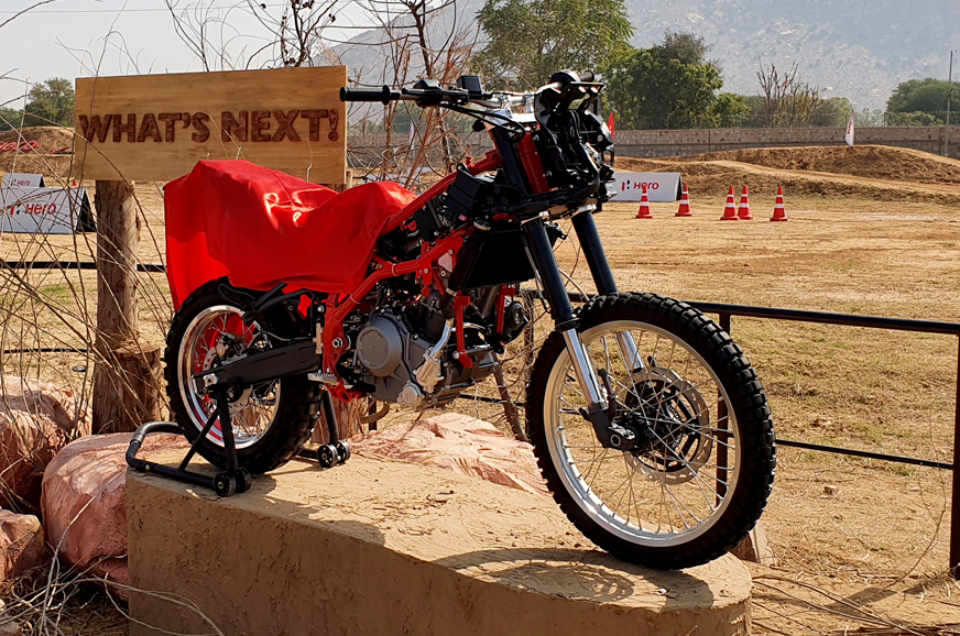 Hero Motorcorp showcases prototype 300cc+ adventure motorcycle
