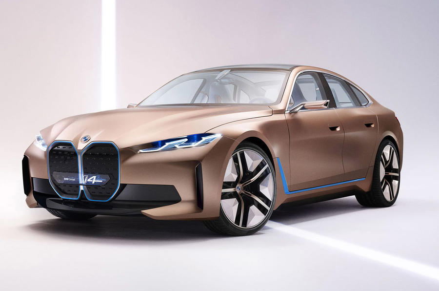 bmw i4 electric sedan showcased at 2020 geneva motor show