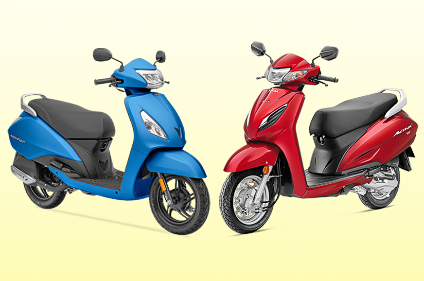 Honda Activa 6G vs BS6 TVS Jupiter: Specifications comparison